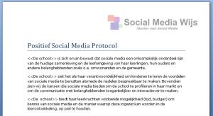 Positief Social Media protocol Social Media Wijs